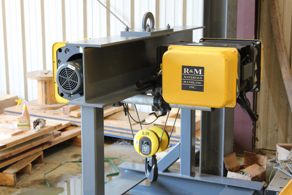 FOR SALE: R&M 3 Ton Capacity (6,000 lbs) Top Running Single Girder (TRSG)